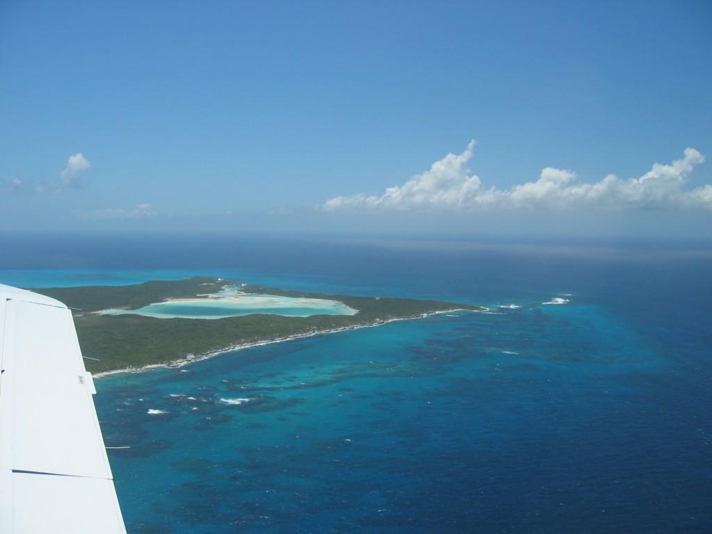 Long Island Bahamas vom Flugzeug aus
